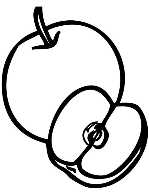 apple coloring pages for preschoolers 360coloringpages 867 | Apple Coloring Pages for Preschoolers Free