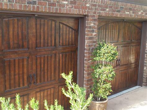 faux wood garage doors faux garage doors