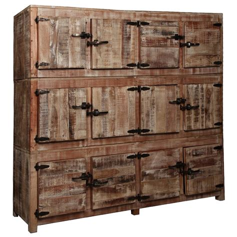 reclaimed wood storage cabinet large rustic reclaimed wood 12 storage box wall unit