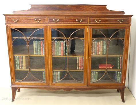 Inlaid Mahogany Bookcase By Maple And Co