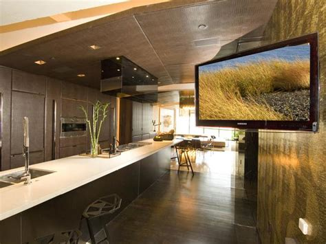 tv in kitchen ideas fall contemporary kitchen design ideas