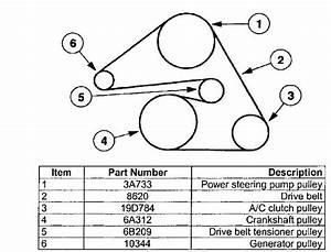 2003 Mercury Sable Serpentine Belt Diagram