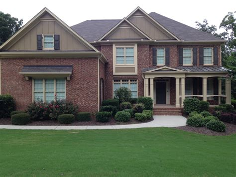 exterior house colors with brick architectural designs