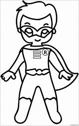 Pages Coloring Superhero Cartoon Superman Baby Drawing Costume Getdrawings sketch template