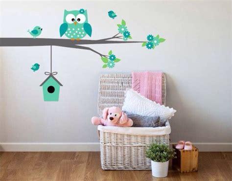 muurschildering babykamer uil uil babykamers op