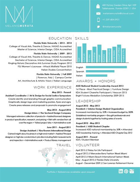 Resume Design by Interior Design Resume On Interior Design