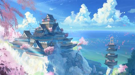 Beautiful Anime Scenery Wallpaper - anime scenery wallpaper 48 images