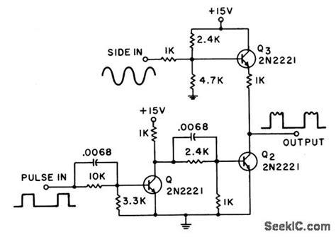 Pulse Train Amplitude Modulator Amplifier Circuit