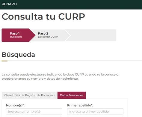 En el registro nacional de población (renapo) se encuentran los datos de todos los ciudadanos nacidos en el territorio nacional. CURP en linea Sacar Gratis para Imprimir Original 2021 ...