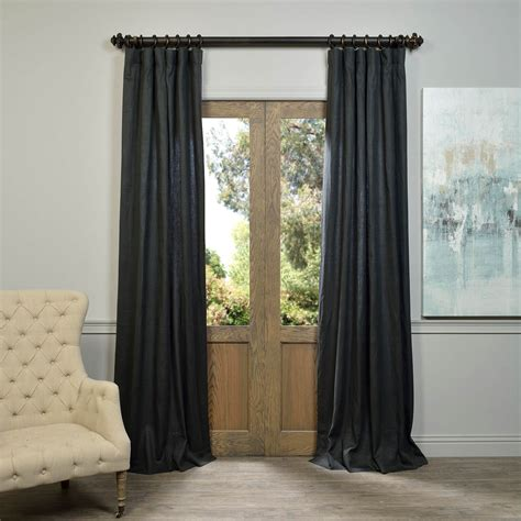 drapes linen charcoal linen curtain half price drapes