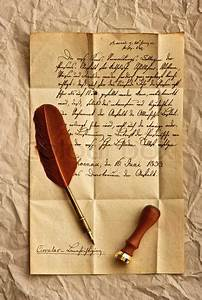 vintage letter written hand written vintage style With old fashioned letter writing supplies