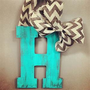 distressed hanging door letter craft room craftiness With letters to hang on front door