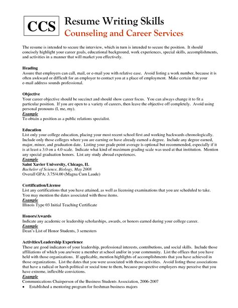 List Of Things To Put On A Resume by Skills You Can Put On Resume Resume Ideas