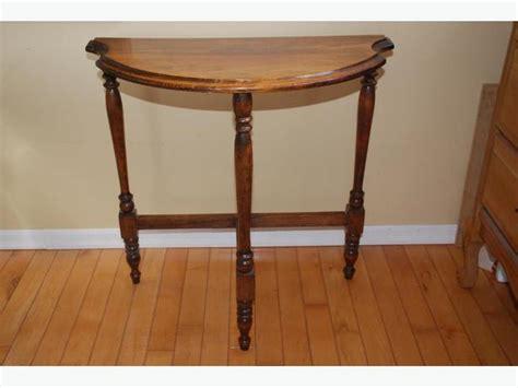 half circle side table 3 leg wood half circle side table comox courtenay comox