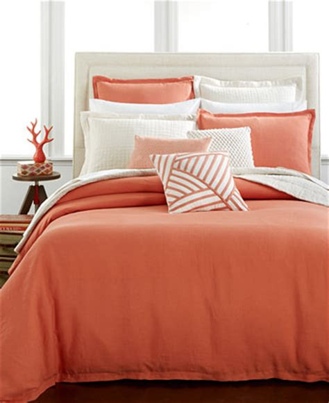 macy s duvet covers closeout hotel collection linen poppy duvet covers only