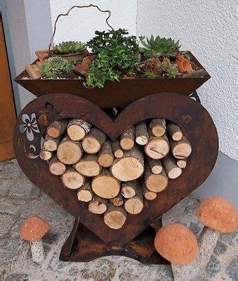 Gartendeko Blech by Herz Mit Schale Edelrost Gartendeko Geschenkidee Terrasse