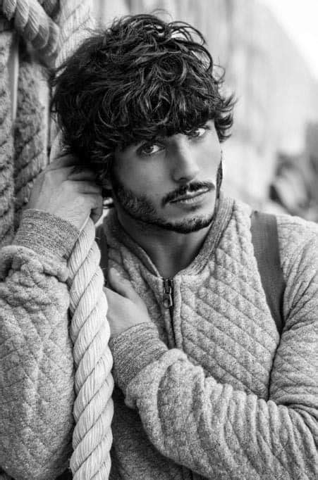 We present you latest curly hairstyles for men. 50 Long Curly Hairstyles For Men - Manly Tangled Up Cuts
