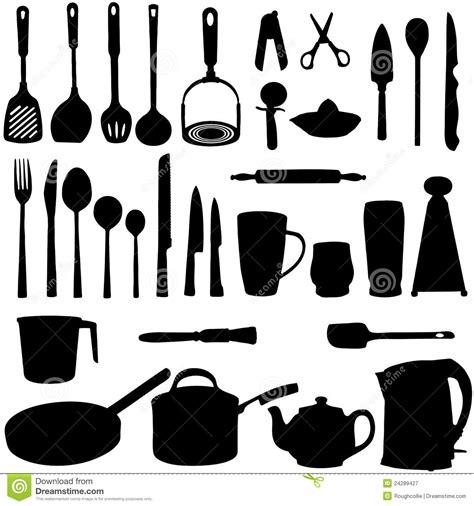 photos d ustensiles de cuisine silhouette d 39 ustensiles de cuisine photographie stock