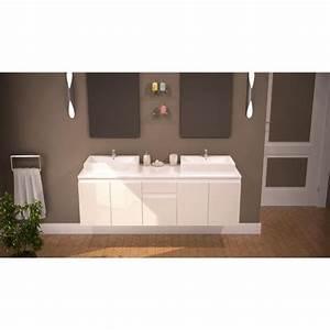 como ensemble salle de bain double vasque 150cm achat With meuble salle de bain livré monté