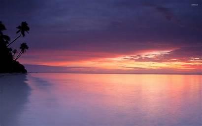 Beach Sand Sandy Sunset Purple Wallpapertag