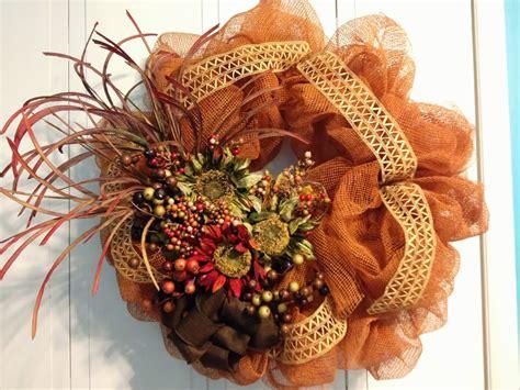 tangled wreaths fall décor wreath deco mesh earth