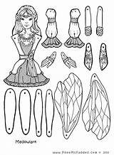 Fairy Coloring Puppets Crafts Puppet Paper Cut Dolls Craft Pheemcfaddell Doll Fairies Colouring Meadowlark Template Assemble Unicorn Printable Outs Toys sketch template