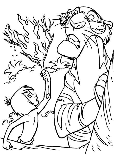 jungle book coloring pages coloringsuitecom