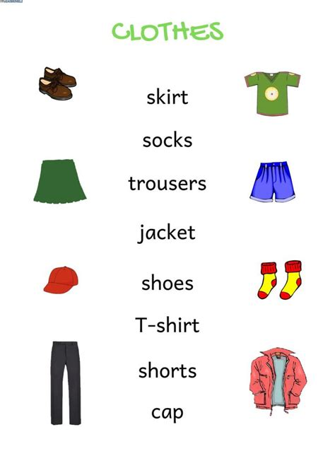 clothes clothing worksheet   clothes worksheet