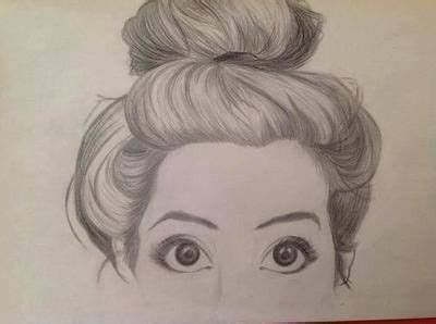 Girl Hair Drawing Messy Bun Fashion Illustrations Pinterest Buns And
