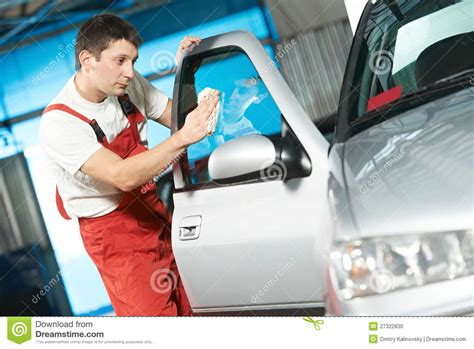 Auto Service Cleaner Washing Car Stock Photo - Image: 27322830