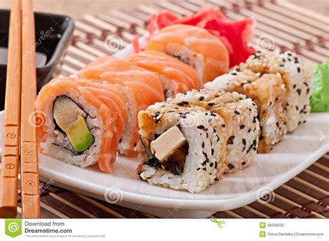 cuisine sushi japanese food sushi and sashimi stock photo image