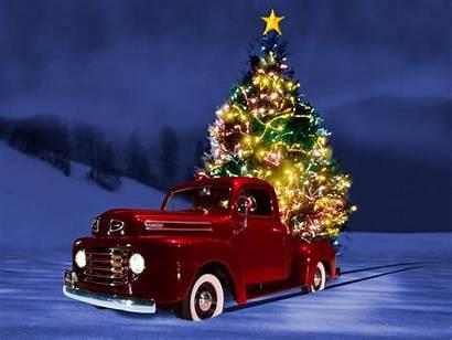 Christmas Tree Wallpapers Desktop Holidays Truck Background