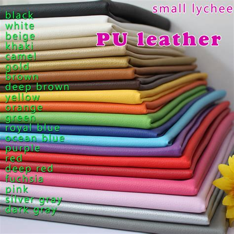 Where To Buy Leather For Upholstery by Aliexpress Buy Small Lychee Pu Leather Faux Leather