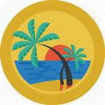Island Beach Icon Palm Relax Sun Landscape
