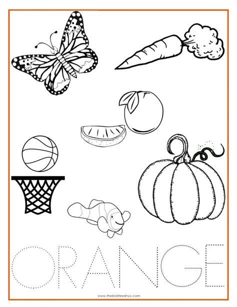 orange color activity sheet other colors the preschool