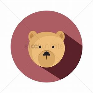 Cute bear face Vector Image - 1293908 | StockUnlimited