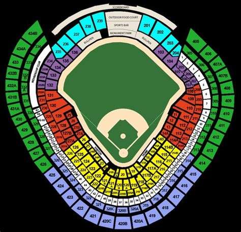 yankee stadium seating chart  rows detailed seating