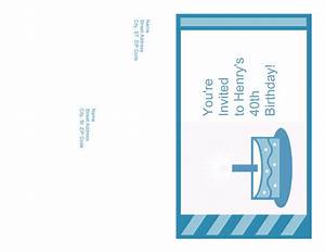 download birthday party invitation mailer needs no With word 2013 envelope template