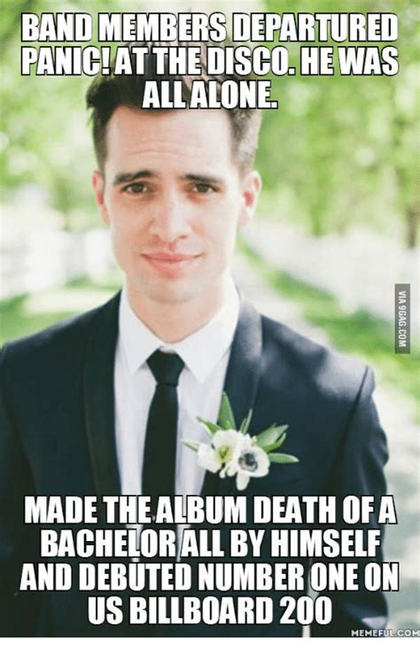 Panic Meme - bandmembersdepartured panic at the disco he was all alone made the album death of a bachelorall