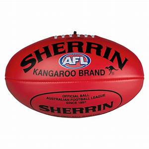 SHERRIN RED SOFT TOUCH FOOTY - AFL Store