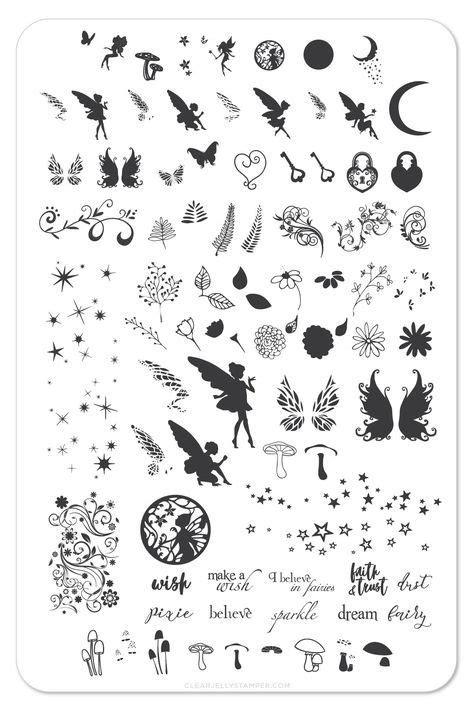 Pixie Perfect (CjSLC-04) - Steel Stamping Plate | Tatuaje, Idei tatuaje și Tatuaj minuscul