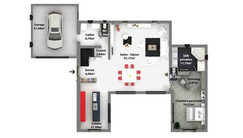 cuisine plans de maisons maison laure constructeur r 195 169 gion centre plan villa moderne plan villa