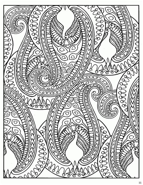 paisley design coloring pages coloring home