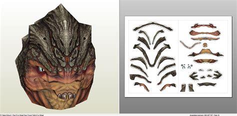 Papercraft Pdo File Template For Mass Effect 3 Grunt