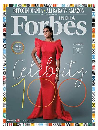 Forbes India Magazine Celebrity Pv Sindhu Covers