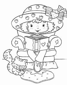 Free coloring pages of children reading a