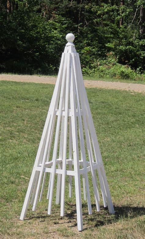 diy pyramid trellis gardens garden ideas  yards