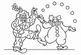Circus Coloring Pages Children Funny Adult Printable Theme Justcolor sketch template