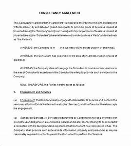 12 consultant contract templates free word pdf for Marketing consultant contract template