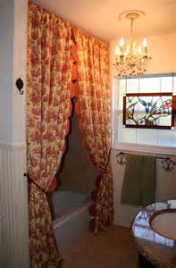 custom made to order country toile shower curtains